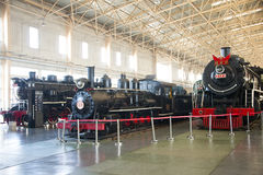 Asian China, Beijing, Railway Museum, exhibition hall, train. Chinese Railway Museum is a national professional railway museum only, locomotive and car showroom Royalty Free Stock Photo