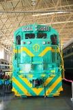 Asian China, Beijing, Railway Museum, exhibition hall, train Stock Image