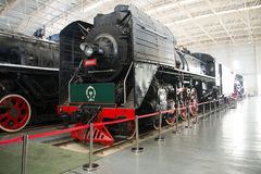 Asian China, Beijing, Railway Museum, exhibition hall, train Stock Images