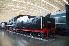 Asian China, Beijing, Railway Museum, exhibition hall, train Stock Photo