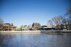 Asian China, Beijing, Shichahai, historical and cultural tourism scenic area Stock Photo