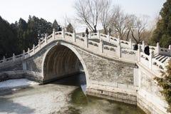 Asian China, Beijing, the Summer Palace, ban bi bridge Stock Photography
