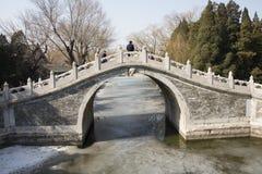 Asian China, Beijing, the Summer Palace, ban bi bridge Royalty Free Stock Images