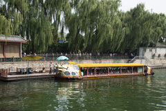Asian China, Beijing, the Summer Palace, cruise Royalty Free Stock Images