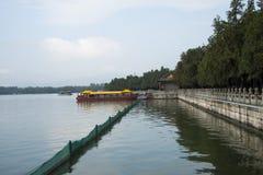Asian China, Beijing, the Summer Palace, Kunming lake, boats Stock Image