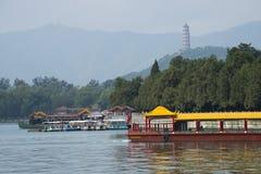 Asian China, Beijing, the Summer Palace, Kunming lake, boats Stock Photo