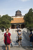 Asian China, Beijing, the the Summer Palace, Tower of Buddhist Incense Stock Images