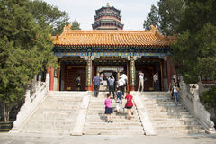 Asian China, Beijing, the the Summer Palace, Tower of Buddhist Incense Royalty Free Stock Image