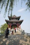 Asian China, Beijing, the Summer Palace, Willow Bridge Stock Photos