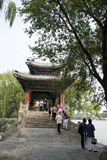 Asian China, Beijing, the Summer Palace, xi di , bridge, Pavilion Royalty Free Stock Image