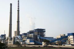 Asian China, Beijing, thermal power plant, plant, equipment, building structure. Asian China, Beijing, equipment of thermal power plant, plant factory Stock Images