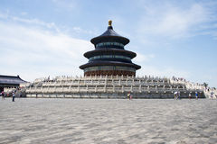 Asian China, Beijing, Tiantan Park, the hall of prayer for good harvests Stock Photography