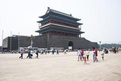 Asian China, Beijing, Zhengyang gate, gate, Royalty Free Stock Photos