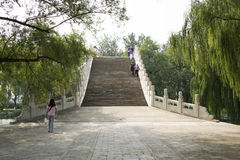 Asian China, the Summer Palace, Beijing, jade belt bridge Royalty Free Stock Photos