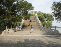 Asian China, the Summer Palace, Beijing, jade belt bridge Stock Photography