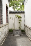 Asian Chinese, antique buildings, courtyards, well Royalty Free Stock Images