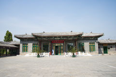 Asian Chinese, antique buildings, exhibition hall Royalty Free Stock Photos
