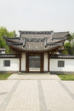 Asian Chinese, antique buildings, gate and wall Royalty Free Stock Photography
