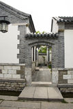Asian Chinese, antique buildings, houses, gardens, Stock Photos