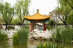 Asian Chinese, antique buildings, pavilions, garde Royalty Free Stock Image