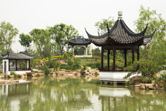 Asian Chinese, antique buildings, pavilions, garde Royalty Free Stock Photo