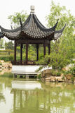 Asian Chinese, antique buildings, pavilions, refle Stock Photos