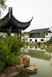 Asian Chinese, antique buildings, pavilions, refle Royalty Free Stock Photos