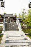 Asian Chinese, antique buildings, Stone Bridge. st Stock Photos