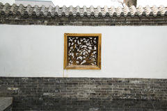 Asian Chinese antique buildings, white walls, tile Royalty Free Stock Photography