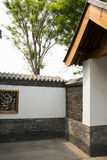 Asian Chinese antique buildings, white walls, tile Royalty Free Stock Photo