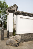 Asian Chinese antique buildings, white walls, tile Stock Images