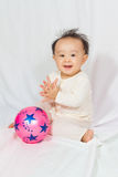 Asian Chinese Baby Smiling Royalty Free Stock Images