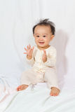 Asian Chinese Baby Smiling Stock Photo