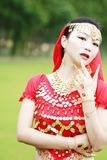 Pretty Asian Chinese belly dancer face close up Royalty Free Stock Photography