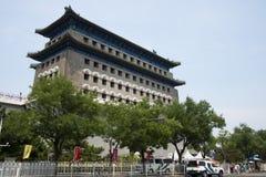 Asian Chinese, Beijing, ancient architecture, Zhengyang Jianlou Royalty Free Stock Photography