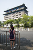 Asian Chinese, Beijing, ancient architecture, Zhengyang Jianlou Royalty Free Stock Image