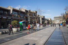 Asian Chinese, Beijing, antique buildings, Qianmen Commercial Street Stock Photography