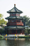Asian Chinese, Beijing, antique buildings, Wang hailou. Asian Chinese, Beijing, Houhai is the old Beijing have long enjoyed a good reputation, cool place to stock photos