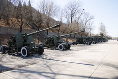 Asian Chinese, Beijing Aviation Museum,Antiaircraft artillery Stock Photography