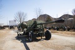 Asian Chinese, Beijing Aviation Museum,Antiaircraft artillery Stock Photos