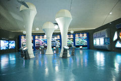 Asian Chinese, Beijing Aviation Museum,Display Hall Royalty Free Stock Images