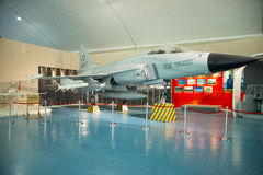 Asian Chinese, Beijing Aviation Museum,Display Hall. Asian Chinese, Beijing, aviation museum, Chinese first opening large aviation museum, is Asia's largest Stock Image