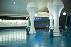 Asian Chinese, Beijing Aviation Museum,Display Hall Stock Photos