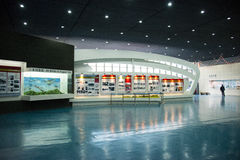 Asian Chinese, Beijing Aviation Museum,Display Hall Royalty Free Stock Photos