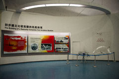 Asian Chinese, Beijing Aviation Museum,Display Hall. Asian Chinese, Beijing, aviation museum, Chinese first opening large aviation museum, is Asia's largest Stock Photo