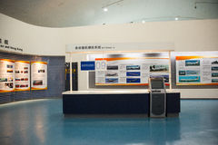 Asian Chinese, Beijing Aviation Museum,Display Hall. Asian Chinese, Beijing, aviation museum, Chinese first opening large aviation museum, is Asia's largest Royalty Free Stock Photo