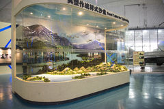 Asian Chinese, Beijing Aviation Museum,Display Hall. Asian Chinese, Beijing, aviation museum, Chinese first opening large aviation museum, is Asia's largest Royalty Free Stock Images