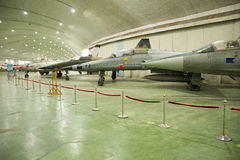 Asian Chinese, Beijing Aviation Museum,. Asian Chinese, Beijing, aviation museum, Chinese first opening large aviation museum, is Asia's largest aviation Royalty Free Stock Images