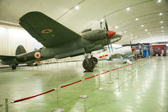 Asian Chinese, Beijing Aviation Museum,. Asian Chinese, Beijing, aviation museum, Chinese first opening large aviation museum, is Asia's largest aviation Stock Images
