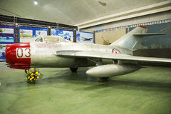 Asian Chinese, Beijing Aviation Museum,. Asian Chinese, Beijing, aviation museum, Chinese first opening large aviation museum, is Asia's largest aviation Royalty Free Stock Photography